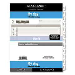 1-Page-Per-Day Planner Refills, 11 x 8.5, White, 2021