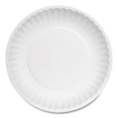 Ajm Packaging Corporationpaper Plates, 6  Diameter, White, Bulk Pack, 1000/Carton