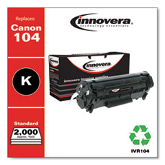 Remanufactured Black Toner Cartridge, Replacement for Canon 104 (0263B001AA), 2,000 Page-Yield