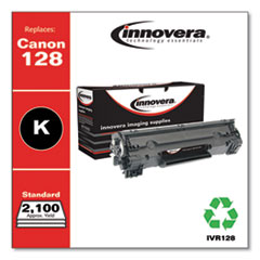 Remanufactured Black Toner Cartridge, Replacement for Canon 128 (3500B001AA), 2,100 Page-Yield