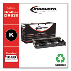 Remanufactured Black Drum Unit, Replacement for Brother DR630, 12,000 Page-Yield