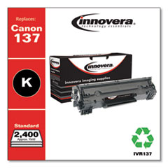 Remanufactured Black Toner Cartridge, Replacement for Canon 137 (9435B001AA), 2,400 Page-Yield