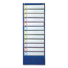 Deluxe Scheduling Pocket Chart, 13 Pockets, 13 x 36
