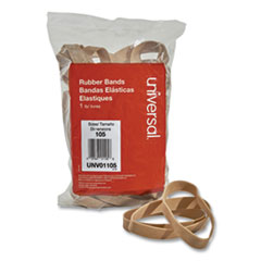 "Rubber Bands, Size 105, 0.06"" Gauge, Beige, 1 lb Box, 55/Pack"