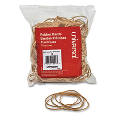 "Rubber Bands, Size 18, 0.04"" Gauge, Beige, 4 oz Box, 400/Pack"