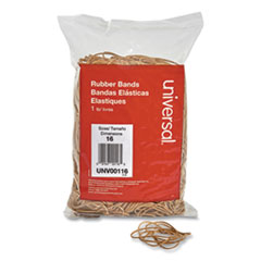 "Rubber Bands, Size 16, 0.04"" Gauge, Beige, 1 lb Box, 1,900/Pack"