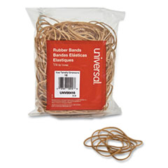 "Rubber Bands, Size 16, 0.04"" Gauge, Beige, 4 oz Box, 475/Pack"