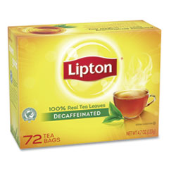 Tea Bags, Decaffeinated, 72/Box