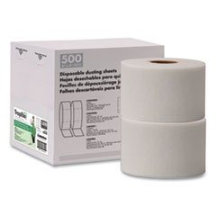 "TrapEze Disposable Dusting Sheets, 5"" x 125 ft, White, 250 Sheets/Roll, 2 Rolls/Carton"