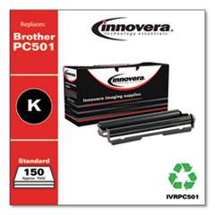 Compatible PC501 Thermal Transfer Print Cartridge, 150 Page-Yield, Black