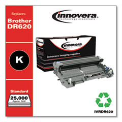 Remanufactured Black Drum Unit, Replacement for Brother DR620, 25,000 Page-Yield
