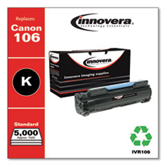 Remanufactured Black Toner Cartridge, Replacement for Canon 106 (0264B001), 5,000 Page-Yield