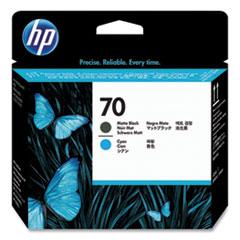 HP 70, (C9404A) Matte Black/Cyan Printhead