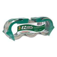 "EZ Start Premium Packaging Tape, 3"" Core, (2) 1.88"" x 60 yds, (1) 1.88"" x 30 yds, Clear, 3/Pack"