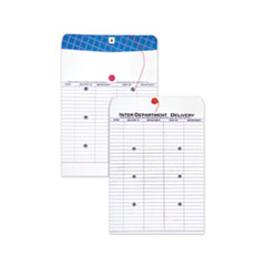 Inter-Department Envelope, #97, Two-Sided Five-Column Format, 10 x 13, White, 100/Box
