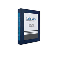 "Framed View Heavy-Duty Binders, 3 Rings, 1"" Capacity, 11 x 8.5, Navy Blue"