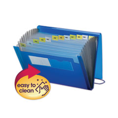Expanding File with Color Tab Inserts, 12 Sections, Letter Size, Blue