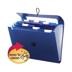 Step Index Organizer, 12 Sections, 1/6-Cut Tab, Letter Size, Navy