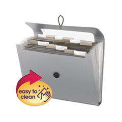 Step Index Organizer, 12 Sections, 1/6-Cut Tab, Letter Size, Silver