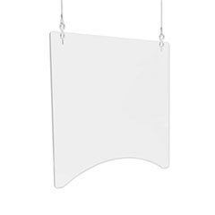 "Hanging Barrier, 23.75"" x 23.75"", Acrylic, Clear, 2/Carton"