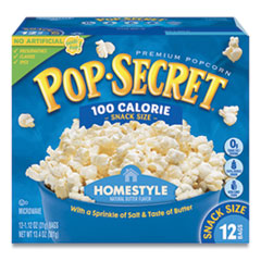 Microwave Popcorn, Homestyle, 1.2 oz Bags, 12/Box