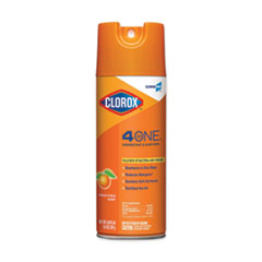 4-in-One Disinfectant and Sanitizer, Citrus, 14 oz Aerosol