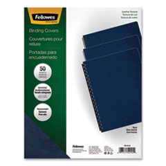 Executive Leather-Like Presentation Cover, Round, 11-1/4 x 8-3/4, Navy, 50/PK