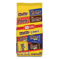 Fun Size Variety Mix, Caramel, Milk Chocolate, Peanut, Peanut Butter Flavors, 30.35 oz Bag, 55 Packs/Bag