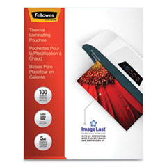 "ImageLast Laminating Pouches with UV Protection, 5 mil, 9"" x 11.5"", Clear, 100/Pack"