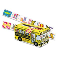 Big School Bus Reward Stickers, Assorted Designs, 800 Stickers per Box