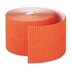 "Bordette Decorative Border, 2 1/4"" x 50' Roll, Orange"