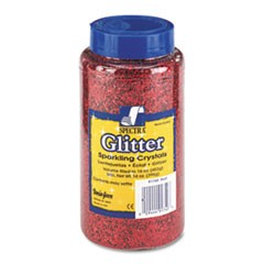 Spectra Glitter, .04 Hexagon Crystals, Red, 16 oz Shaker-Top Jar