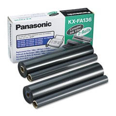 KX-FA136 Film Roll Refill, 710 Page-Yield, Black, 2/Box