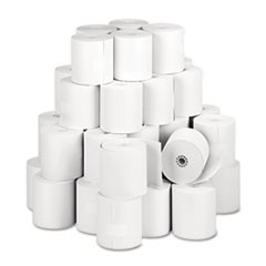 "Direct Thermal Printing Thermal Paper Rolls, 3.13"" x 273 ft, White, 50/Carton"