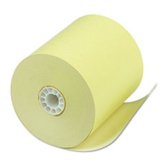 "Single Ply Thermal Cash Register/POS Rolls, 3 1/8"" x 230 ft., Canary, 50/CT"