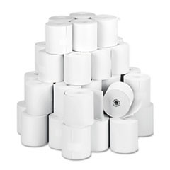 "Paper Rolls, One Ply Teller Window/Financial, 3"" x 150 ft, White, 50/Carton"