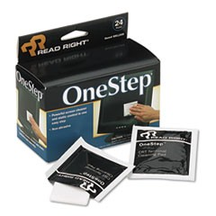 OneStep Screen Cleaner, 5 x 5, 24/Box