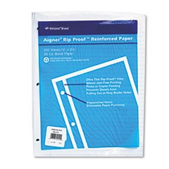 Rip Proof Reinforced Filler Paper, 3-Hole, 8 1/2 x 11, Narrow Rule, 100/Pack