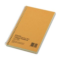 Subject Wirebound Notebook, Narrow Rule, 7 3/4 x 5, Green, 80 Sheets