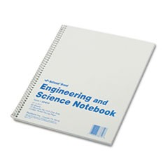 Engineering and Science Notebook, College Rule, 11x 8 1/2, White, 60 Sheets