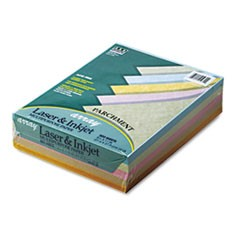 Array Colored Bond Paper, 24lb, 8-1/2 x 11, Assorted Parchment, 500 Sheets/Ream