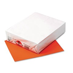Kaleidoscope Multipurpose Colored Paper, 24lb, 8.5 x 11, Pumpkin, 500/Ream