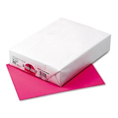 Kaleidoscope Multipurpose Colored Paper, 24lb, 8.5 x 11, Hot Pink, 500/Ream