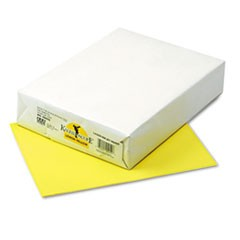 Kaleidoscope Multipurpose Colored Paper, 24lb, 8.5 x 11, Lemon Yellow, 500/Ream