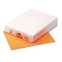 Kaleidoscope Multipurpose Colored Paper, 24lb, 8.5 x 11, Hyper Orange, 500/Ream