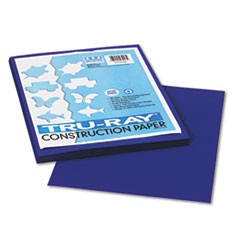 Tru-Ray Construction Paper, 76lb, 9 x 12, Royal Blue, 50/Pack