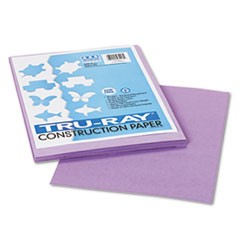 Tru-Ray Construction Paper, 76lb, 9 x 12, Lilac, 50/Pack