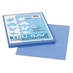 Tru-Ray Construction Paper, 76lb, 9 x 12, Blue, 50/Pack