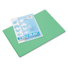 Tru-Ray Construction Paper, 76lb, 12 x 18, Festive Green, 50/Pack