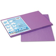Tru-Ray Construction Paper, 76 lbs., 12 x 18, Violet, 50 Sheets/Pack